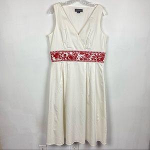 Liz Claiborne Dresses Cotton Embroidered Dress 14